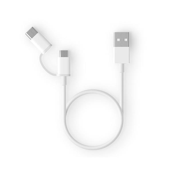 Кабель 2 в 1 USB Type-C/Micro Xiaomi ZMI 100cm белый (AL501)