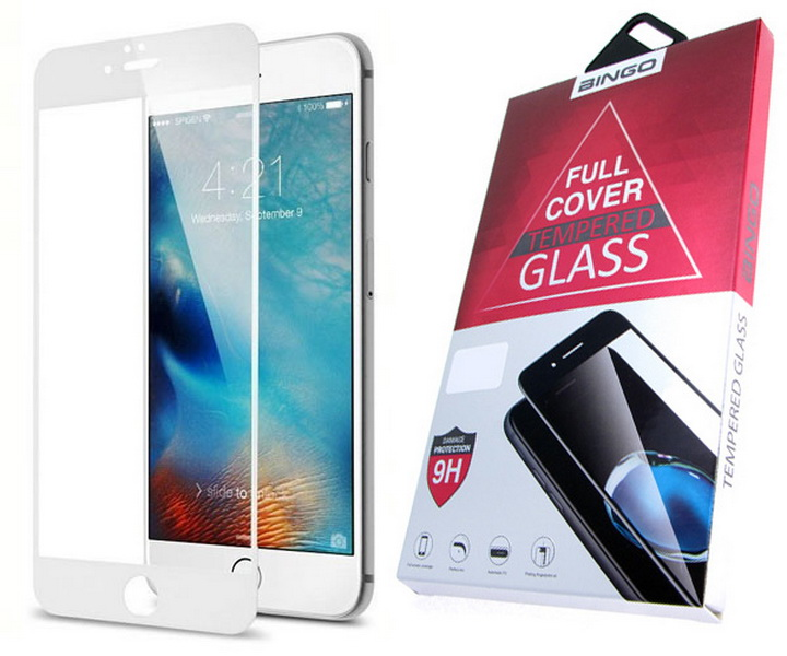Защитное стекло 3D для Xiaomi A1 белое