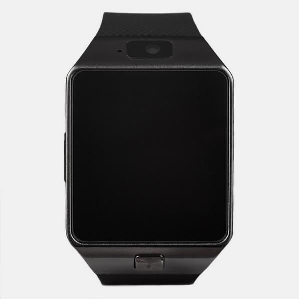 Смарт часы DZ-09 черный (камера, сим карта, карта памяти, SMS, музыка, новости, шагомер, bluetooth, громкая связь)