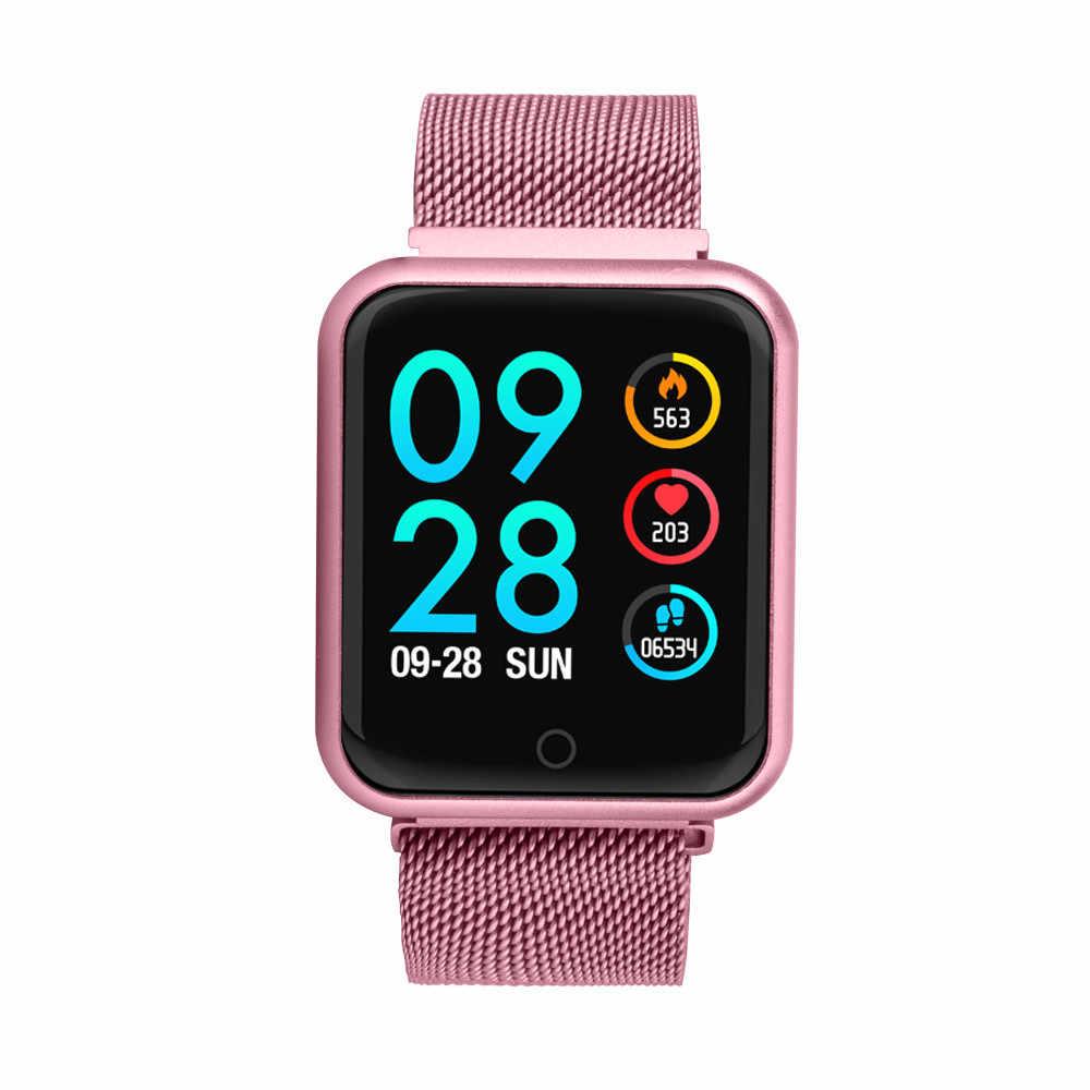 Смарт часы P68 розовый