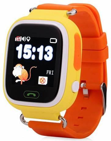 Детские часы с GPS трекером Smart Baby Watch Q90 желтый