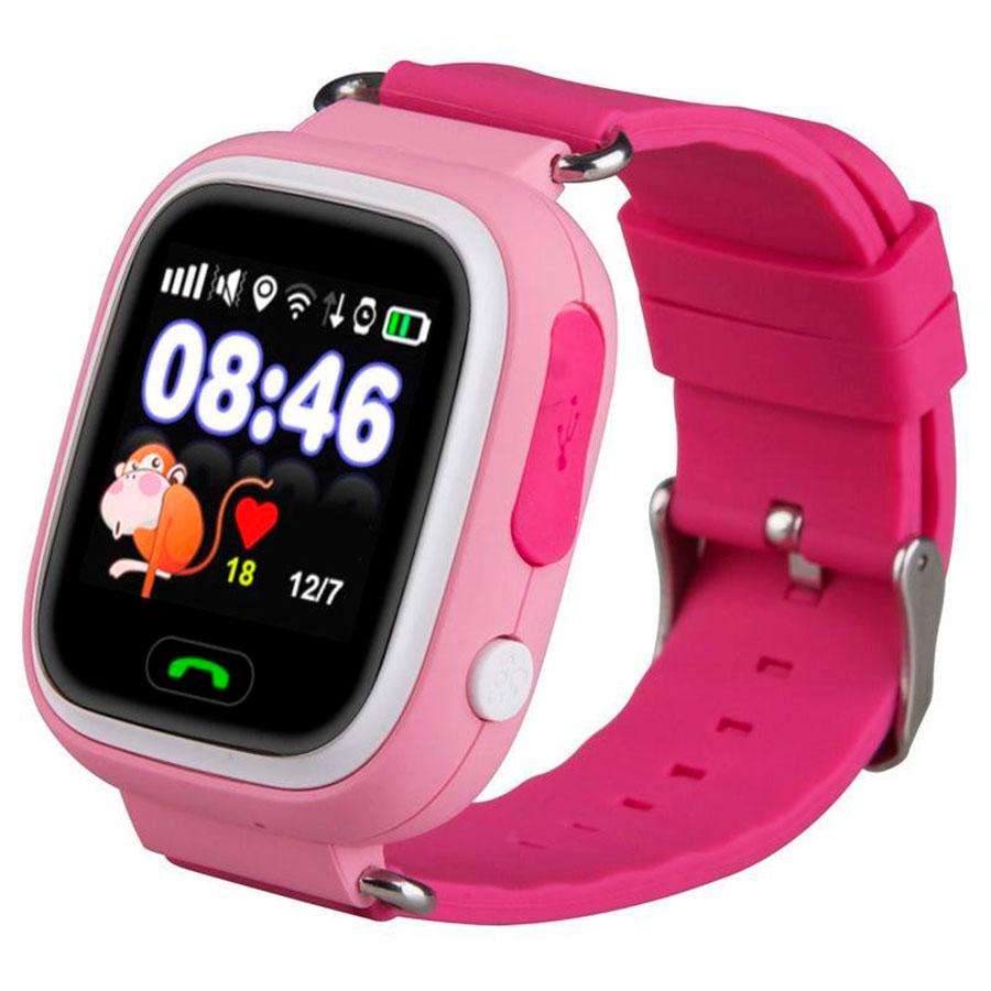 Детские часы с GPS трекером Smart Baby Watch Q90 розовый