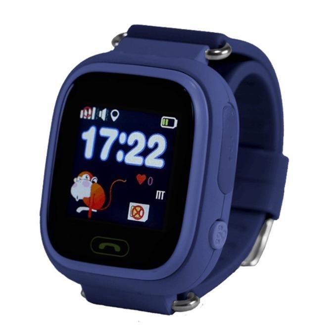 Детские часы с GPS трекером Smart Baby Watch Q90 синий