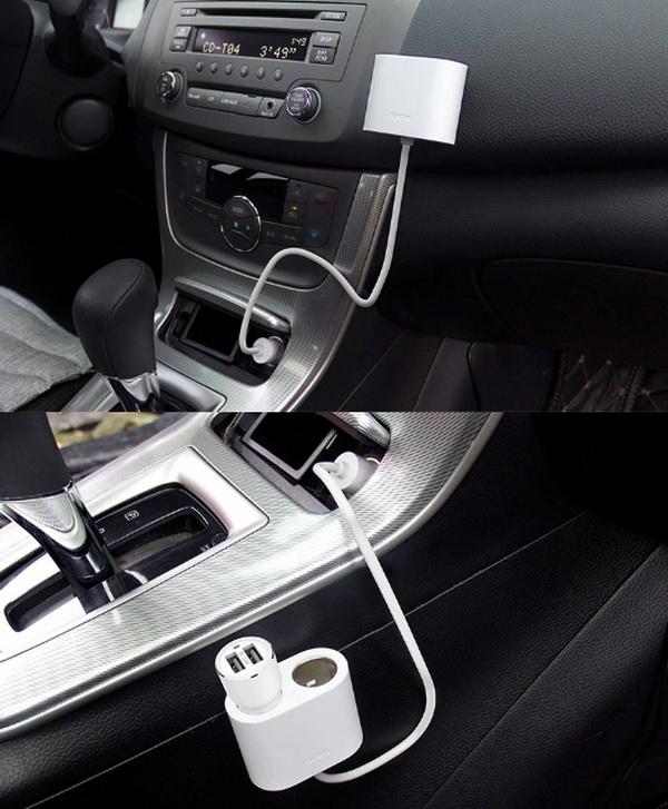 Разветвитель прикуривателя автомобильный xiaomi roidmi 2s splitter ( Белый )