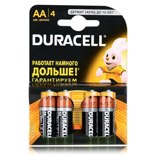 Батарейка Duracell AA LR6 1,5V 1уп-4шт
