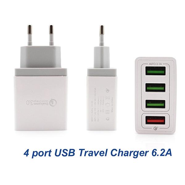 Зарядное устройство Qualcomm quick charge 3.0 4 usb 6.2a