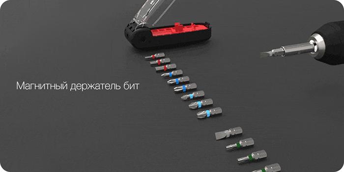 Отвертка Xiaomi Wiha Crocodile Mounth Screwdriver 17 in 1